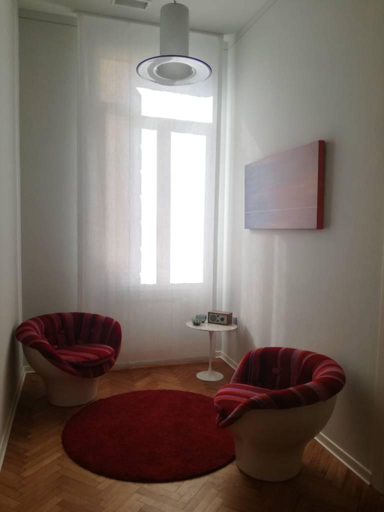 Foto della sala d'attesa dello studio in centro a Padova